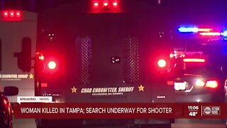 Deputies searching for shooter after woman found dead in Tampa