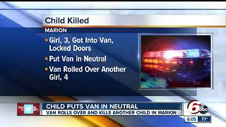 Child puts van into neutral, rolls over 4-year-old - Video