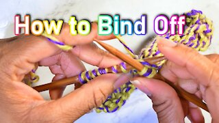 How to Bind Off in Knitting (Updated ver.)