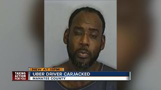 Passenger carjacks Uber driver in Manatee County before crashing vehicle into retention pond