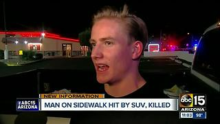 Man hit and killed by vehicle in Tempe - Video