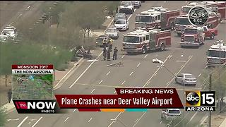 Small plane crash lands near Deer Valley Airport - Video