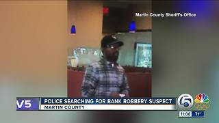 Deputies searching for bank robbery suspect - Video