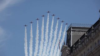 RAF flypast over London as part of queen's birthday parade