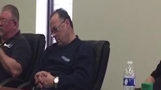 Man Falls Asleep During Office Meeting - Video