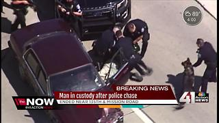 Bank robbery suspect arrested after police chase