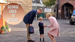Inside Prince George's first day of school - Video