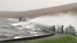 Ophelia Winds Spray Water Across Spelga Dam in County Down - Video