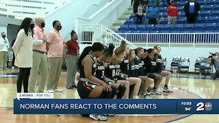 Norman fans react to racist comments at girls basketball game
