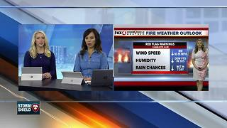 Red Flag Warnings In Place - Video