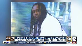 Baltimore pays $1.12M to settle police lawsuits - Video
