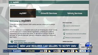 New law requires seller to notify DMV of vehicle sale