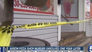 Akron Pizza Shop Murder Remains Unsolved - Video
