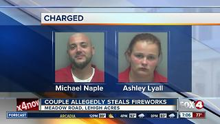 Couple Arrested for Stealing Fireworks - Video