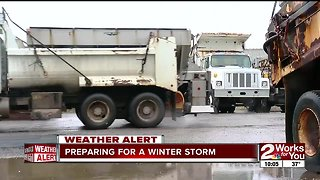 Tulsa plow crews on standby for winter weather