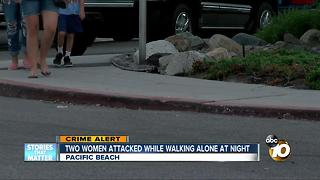 Two women attacked in Pacific beach - Video