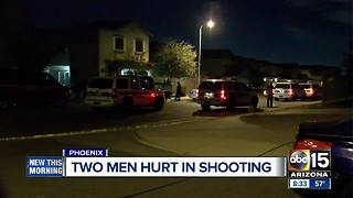 Two shot in south Phoenix, man detained for questioning - Video
