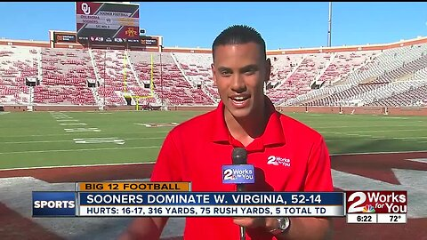 Oklahoma hammers West Virginia, 52-14 behind 391 total yards and 5 TD from Jalen Hurts