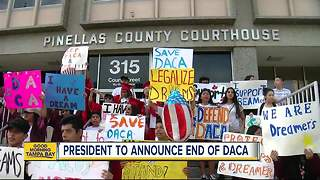 Undocumented youths march in protest of dismantling of DACA - Video