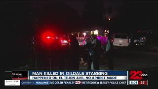 Man killed in Oildale stabbing - Video