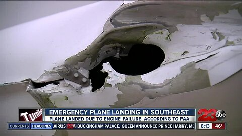 Emergency plane landing caused by engine failure in Southeast