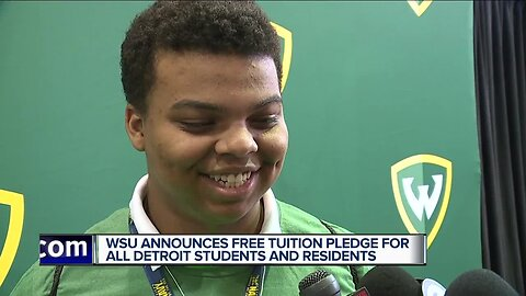 WSU announces free tuition pledge for all Detroit students and residents