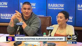 Woman released from hospital after Las Vegas shooting - Video