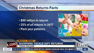 Las Vegas shoppers busy returning gifts