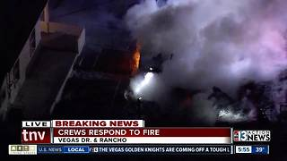House fire near Vegas and Rancho - Video