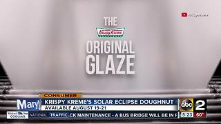 Krispy Kreme reveals solar eclipse doughnut - Video