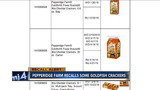 Goldfish crackers recalled due to potential salmonella contamination