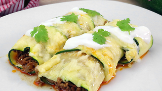 How to make low carb zucchini enchiladas - Video
