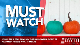 IF you see a teal pumpkin this Halloween, don't be alarmed: Here is what it means - Video