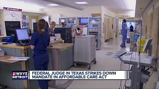 Texas Federal judge strikes down mandate in Affordable Care Act - Video