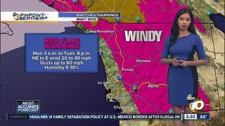 10News Pinpoint Weather for Sun. Oct. 14, 2018