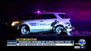 Woman arrested on suspicion of DUI after injuring Thornton police officer in crash