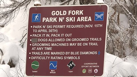 Park n' ski provides recreational opportunities in the snow