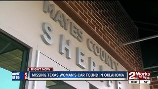 Missing Texas woman's vehicle found in Mayes County - Video
