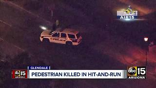 Pedestrian killed in hit-and-run in Glendale - Video