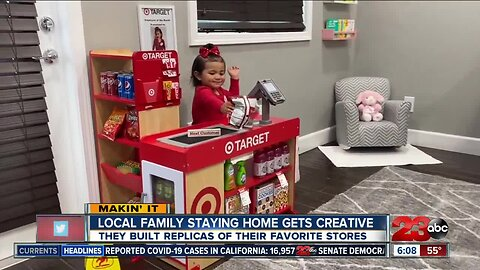 Local family staying home gets creative