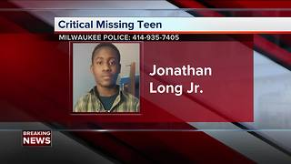Police ask for public's help to find missing Milwaukee 17-year-old Jonathan Long Jr.