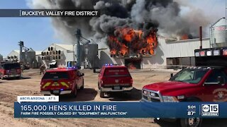 Hickman's Family Farms fire possibly caused by 'equipment malfunction'