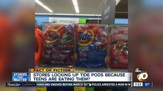 Tide PODS locked up to prevent kids from eating them? - Video