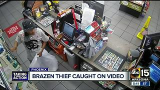 Police searching for Phoenix Circle K cigarette thief - Video
