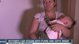 Mother's car stolen with purse and gifts inside - Video