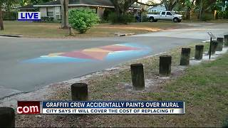 South Seminole Heights traffic mural accidentally covered up by city - Video