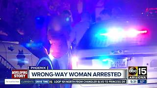Wrong-way driver taken into custody in Phoenix - Video
