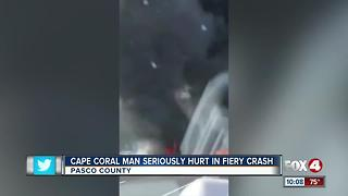 Cape coral Man Seriously Hurt in Fiery Crash - Video