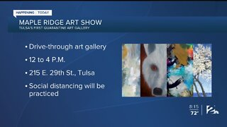 Tulsa's first quarantine art gallery today