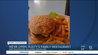 Rusty's Family Restaurant offers takeout fare